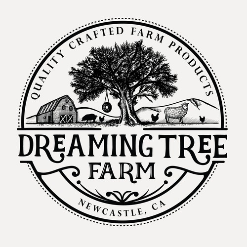 Farm brand with the title 'Logo for Dreaming Tree farm'