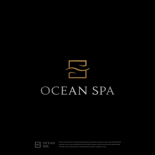 Relaxation design with the title 'Ocean Spa'