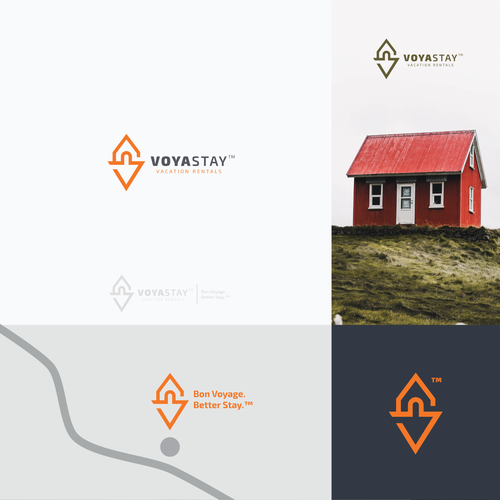 Vacation rental logo with the title 'Logo for Cabin / Vacation Rental Company'