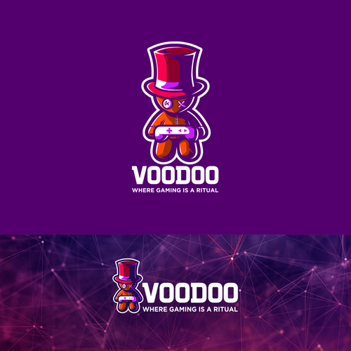 Voodoo logo with the title 'VOODOO GAMING'