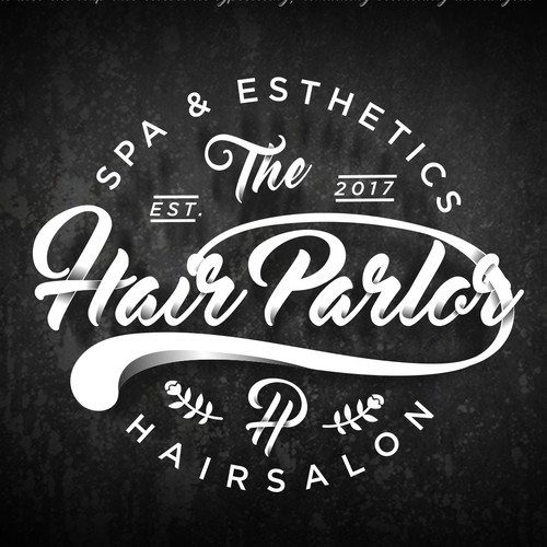Stylist logo with the title 'The Hair Parlor'