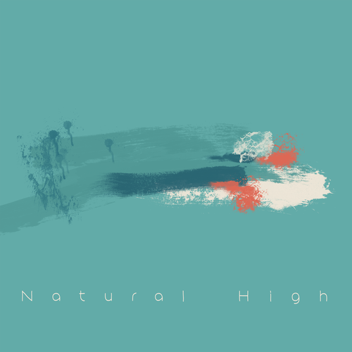Abstract artwork with the title 'Natural High'