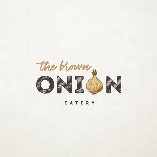 Onion logo with the title 'Casual & cool logo for a brand new Cafe'