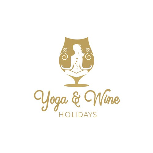 Retreat design with the title 'Yoga & Wine Holidays Logo'