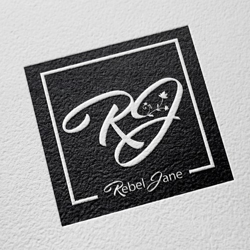 Curve logo with the title 'Rebel Jane Logo Design MU BLACK'