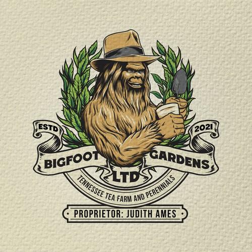 Bigfoot design with the title 'Bigfoot Gardens Ltd.'