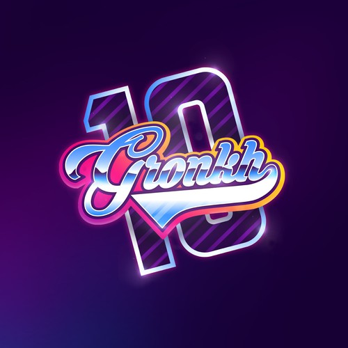 Anniversary logo with the title 'Vibrant logo for GRONKH'