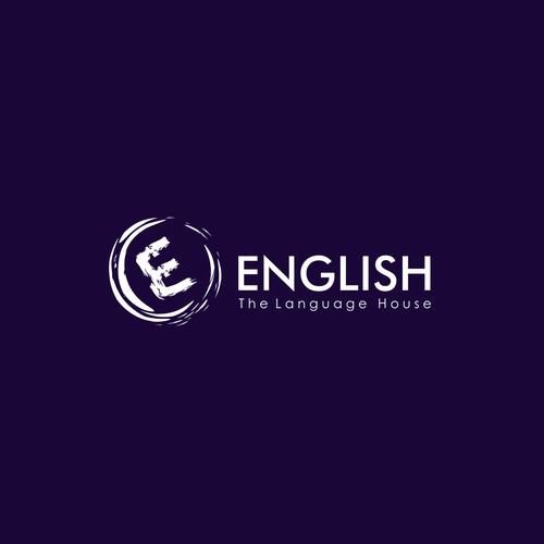 Perfect logo with the title 'English'