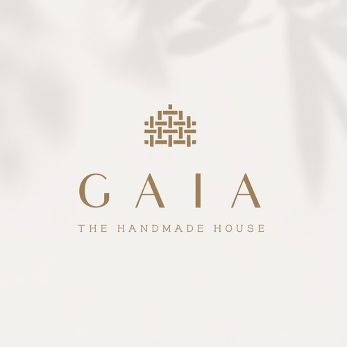 Knitting design with the title 'Gaia the Handmade House'