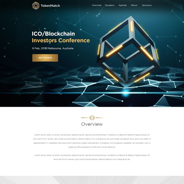 Bitcoin design with the title 'Website design'