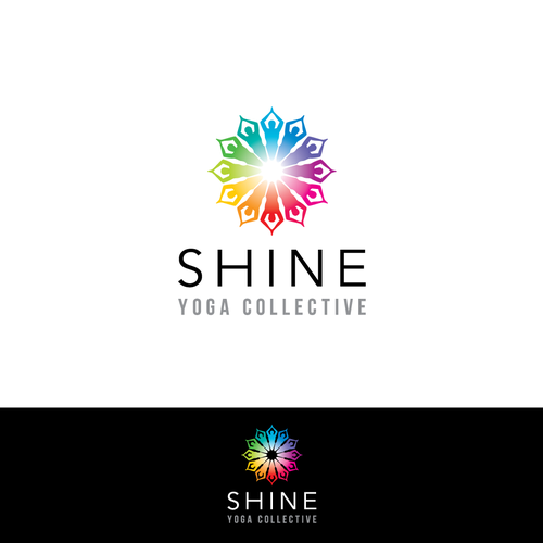 Shine design with the title 'Be Shining with Shine Yoga'
