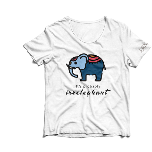 Elephant t-shirt with the title 'T-shirt for charity to help save elephants'