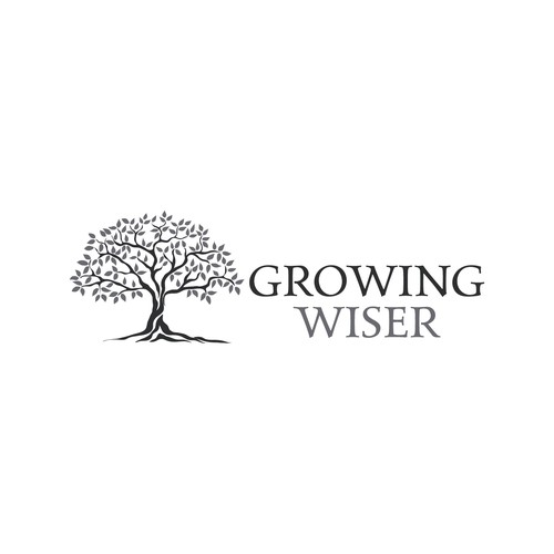 Teacher design with the title 'Logo for Growing Wiser'