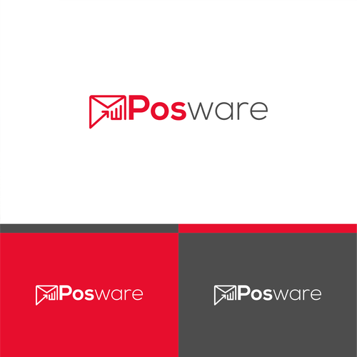 Email logo with the title 'Create a POS software logo for the retail market'