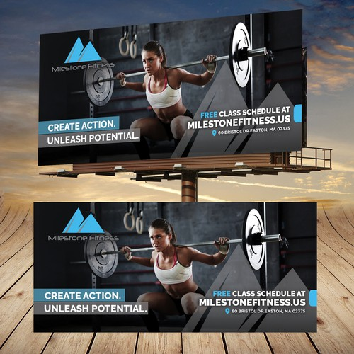 Strength design with the title 'Bold Fitness Billboard'