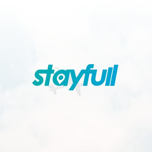 Hotel design with the title 'Stayfull Logo Design - Online Travel Agency'