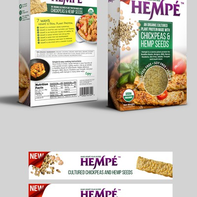 Organic Hemp Food Packaging Design