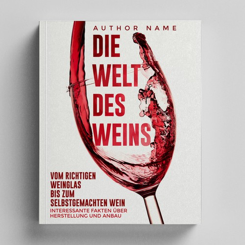 Culinary design with the title 'Wine Book'