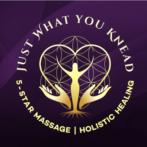 Sacred geometry design with the title 'Logo for Massage and wellness business'