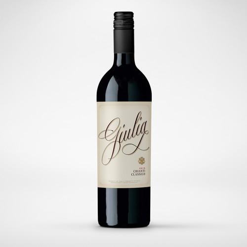 Italian design with the title 'Elegant classic Italian wine label.'