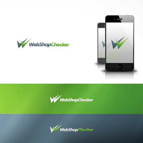 Check mark logo with the title 'Minimal Logo for WebShopChecker (WebWinkelChecker.nl)'