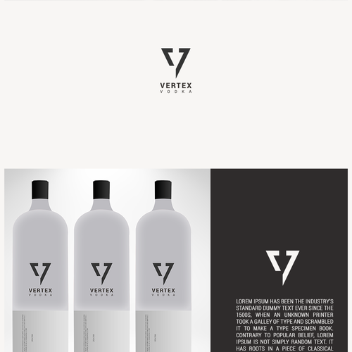 Alcohol logo with the title 'Logo for Vertex Vodka'