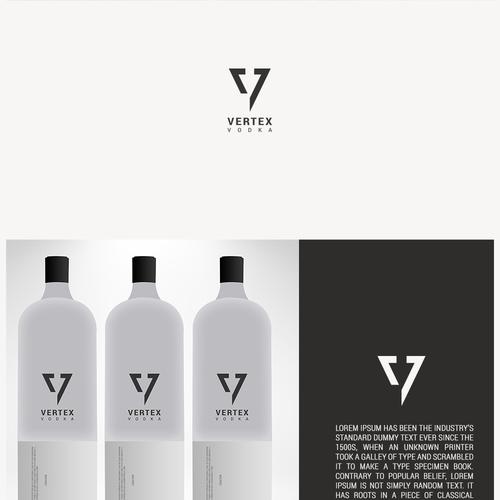 Spirit logo with the title 'Logo for Vertex Vodka'