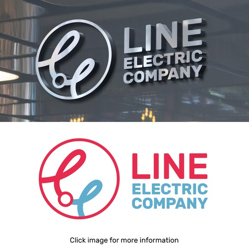 Corporate design logo with the title 'Logo for an Electricity Company'