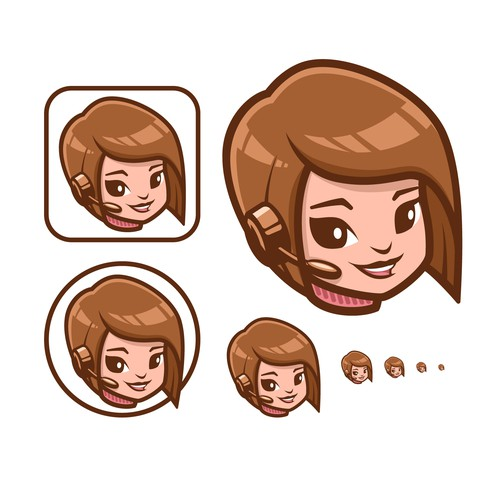 Avatar design with the title 'Iconic, Simple & Bold Girl Mascot.'
