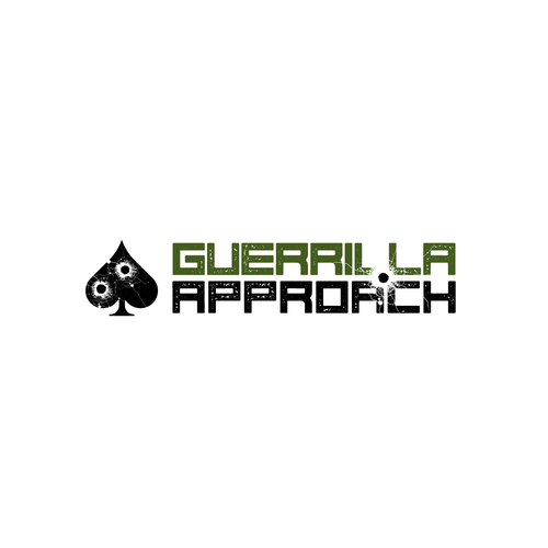 "Bullet logo with the title 'Logo design for ""GUERRILLA APPROACH""'"