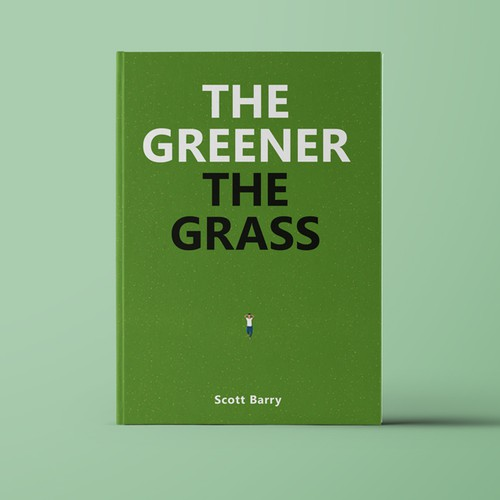 Green book cover with the title 'Fresh design for upcoming book'