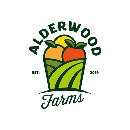 Field logo with the title 'logo for farms'