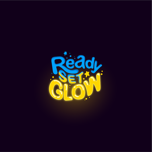 Glow logo with the title 'Logo Design for Ready Set Glow'