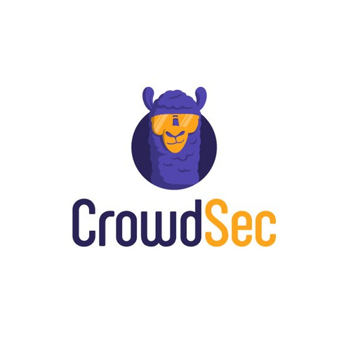 Cybersecurity brand with the title 'Logo Design for CrowdSec'