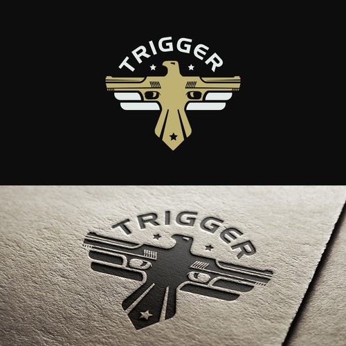 Shooting design with the title 'Logo for Trigger'