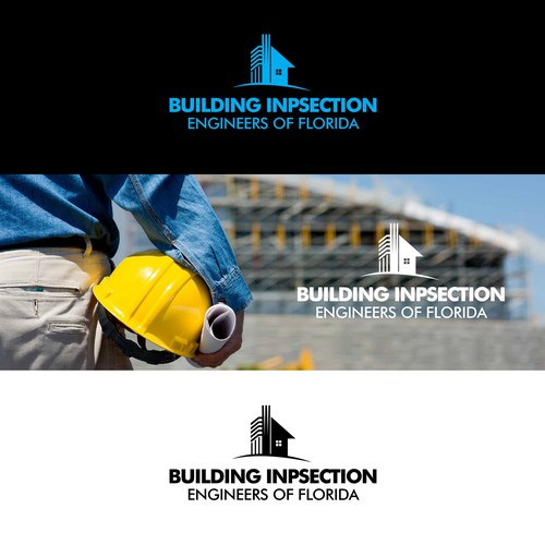 Inspection logo with the title 'Unique design for building inspection in florida'