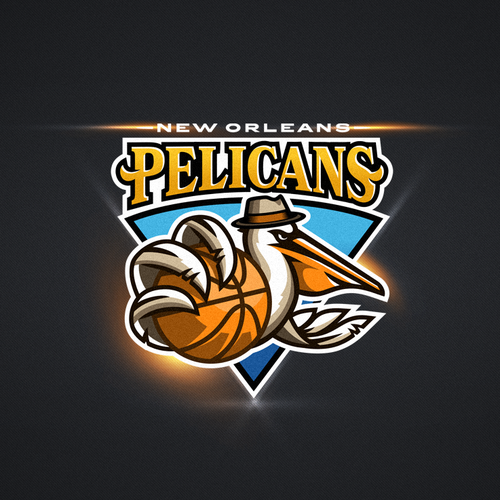 Basketball logo with the title '99designs community contest: Help brand the New Orleans Pelicans!!'