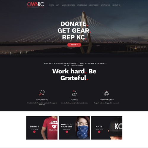 Weebly design with the title 'OWNKC Square Online Store'