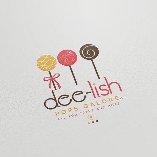 Upscale logo with the title 'Logo for Dee-lish Pops Galore'