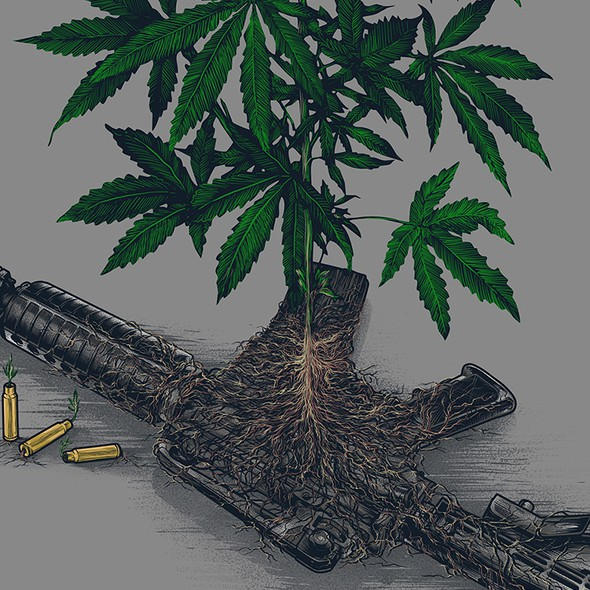 War artwork with the title 'WAR on WEED '