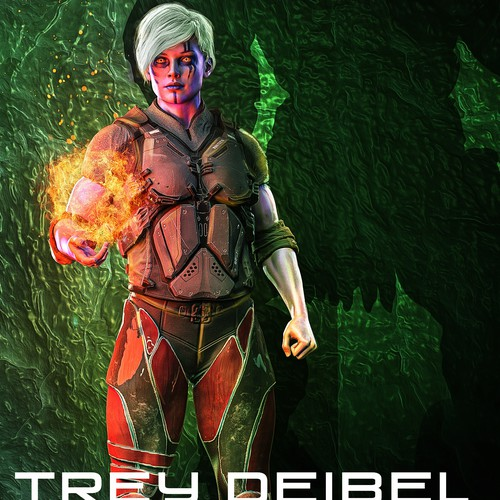 Futuristic book cover with the title 'GALAXY AT WAR - A Prophecy Fulfilled'