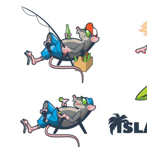 Pencil design with the title 'island ratz'