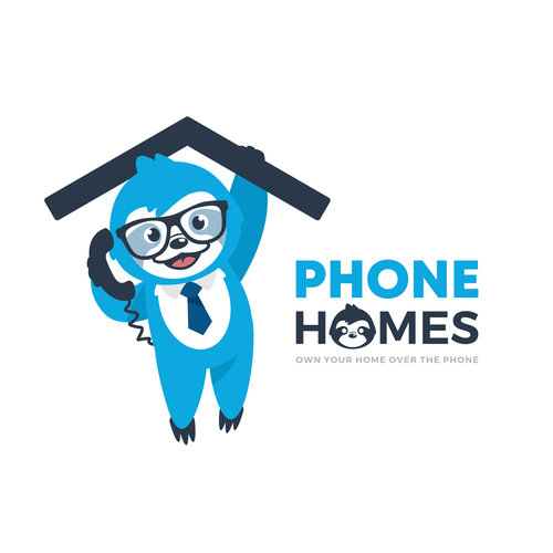 Call center logo with the title 'Phone Homes'