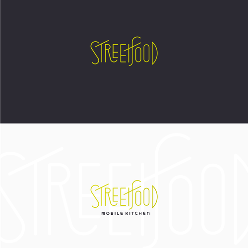 Custom font design with the title 'Street Food'