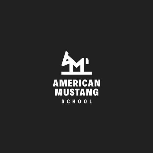 Mustang design with the title 'American Mustang'