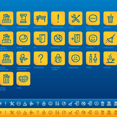 "Icon set for ""WORKandSTORE"""