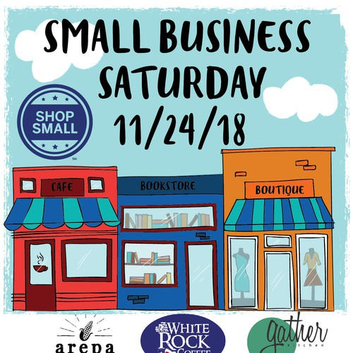 Shop design with the title 'Small Business Saturday poster'