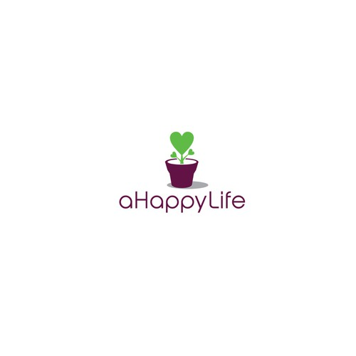 Catering design with the title 'Logo For a Happy Life'