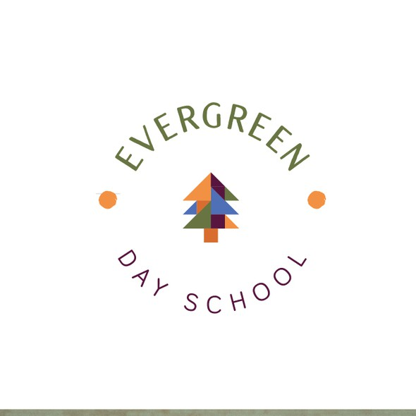 School brand with the title 'Clever school logo'