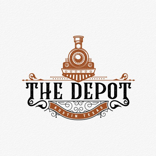 Art Deco logo with the title 'The Depot'